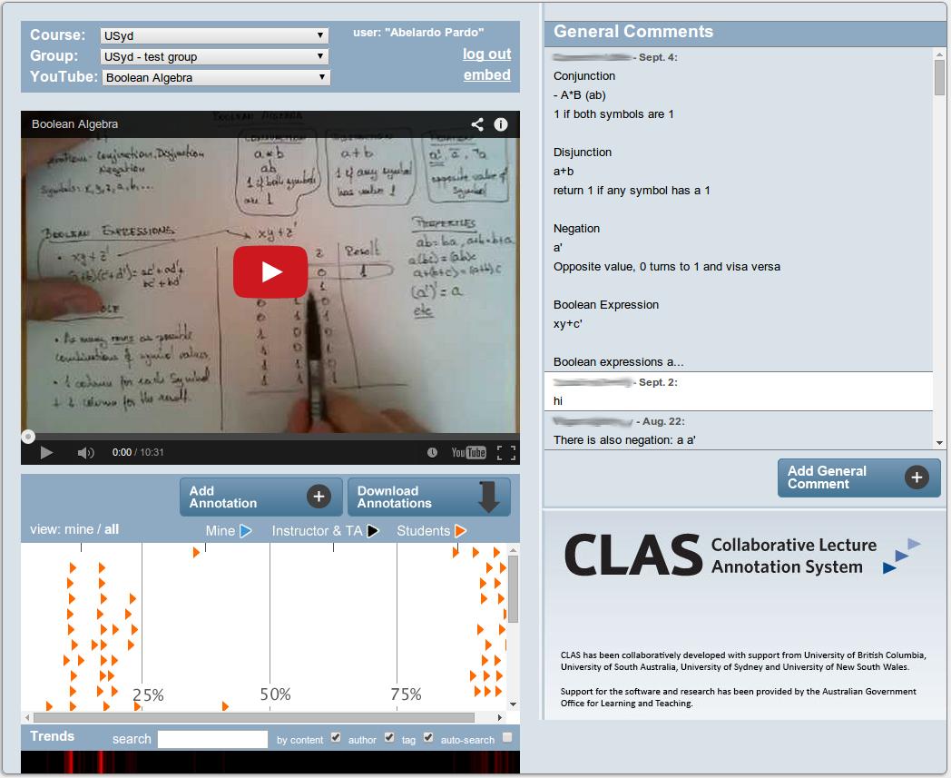 CLAS Video Annotation Tool